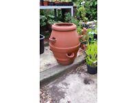 Terracotta Strawberry Pot, 50cm High