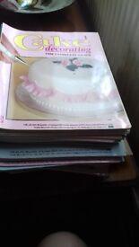 Cake decorating magazines/sugar flowers