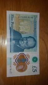 Rare £5 note AA14