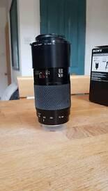 Minolta lens 70-210mm beercan. Sony alpha.