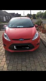Red Ford Fiesta zetec