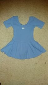 BBO cornflower blue SKIRTED BALLET & TAP DRESS. Non-smoking/pet-free home. £2
