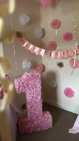 1st Birthday Decoration Number