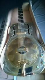 Luna resonator steel guitar with pick ups