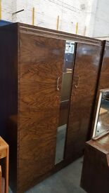 Matching large wardrobe, double wardrobe and dressing table set