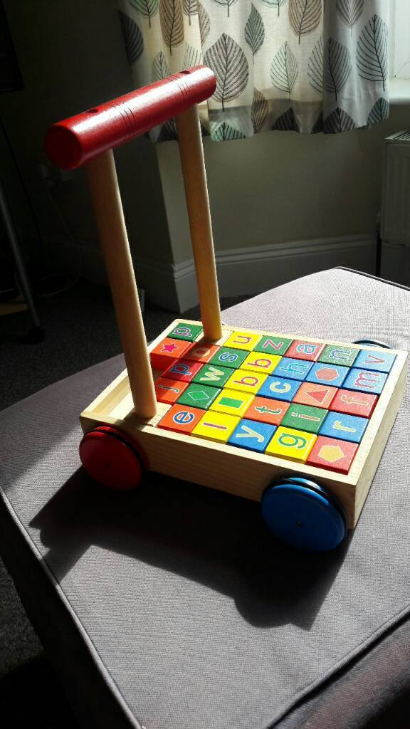 Baby walkerin Torquay, DevonGumtree - Chad valley (argos) baby walker with building learning colour blocks