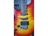 rare left handed washburn maverick electric guitar