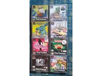 PS1 GAMES / PS1 MEMORY CARDS FOR SALE