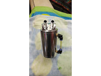 New Polished Aluminium Universal Oil Catch Reservoir Tank Can Breather Kit