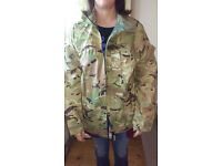 rainproof jacket camo pattern military L £11