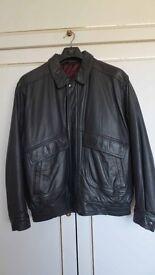 M&S Soft Leather Bomber Jacket