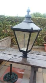 Victorian type lamp post Lantern only alloy/steel in working order .