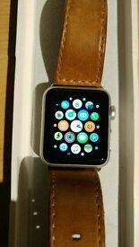 Apple Watch 38mm Silver series 1 wirh extras