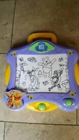 Winnie the poo etch a sketch
