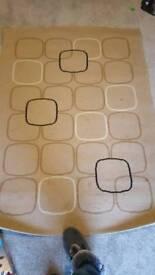 Large beige rug