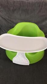 Green Bumbo Seat and Tray