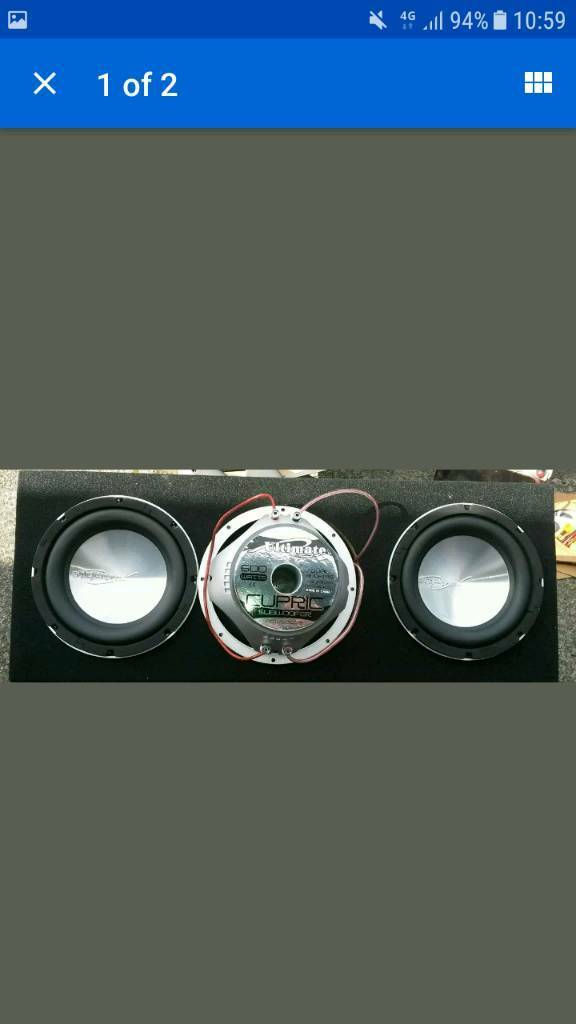ultimate competition monster bass subwoofers ground shakin bass and power as new