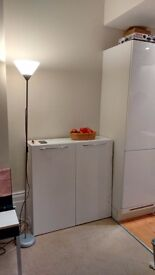GREAT DEAL! WHITE CUPBOARD CABINET STORAGE UNIT like new!