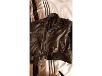Black Leather Biker Jacket Unisex