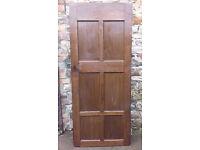 Antique Solid 6 Panel Wooden Door