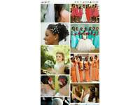 Event planner and bridal train hair and clothing