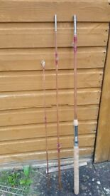 Split cane fishing rod.