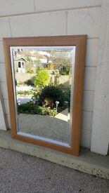 Large modern bevelled mirror, good quality and in excellent condition