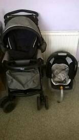 Chicco pushchair with cosy toes changing bag