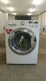 LG F1447TD 1400rpm 8kg Direct Drive Washing Machine White [Energy Class A++]