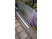 polycarbonate roofing sheet and timber supports