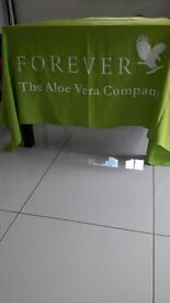 Forever living table cloth