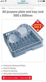 Brand new commercial dishwasher tray