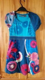 AS NEW - Turquoise Desigual Dress - Age 9-10