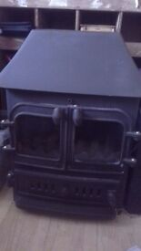Traditional cast iron GAS stove. Coal effect complete with coal. Could do with a re-paint