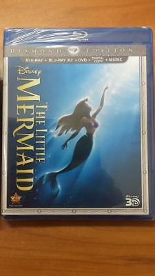 Disney'S The Little Mermaid (Blu-Ray 2d/3d/Dvd/Digital) Brand New Sealed