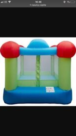 Bouncy castle with blower.. box and repair items