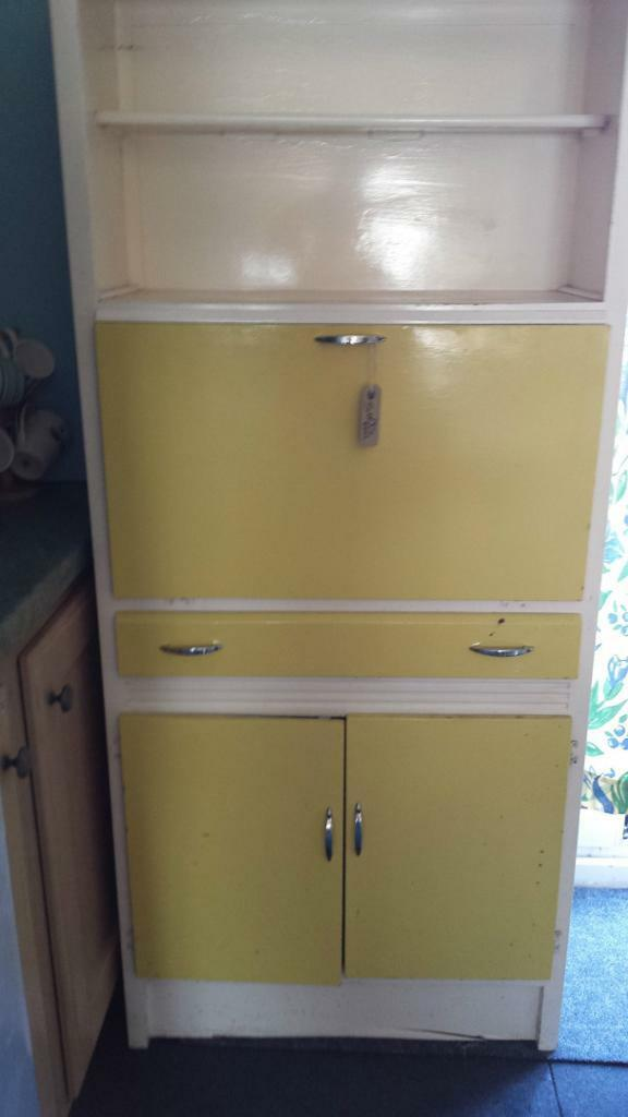 Kitchen cabinet 1950 s style in barry vale of glamorgan for Kitchen cabinets gumtree