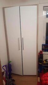 White Wardrobe & Bedside locker For Sale