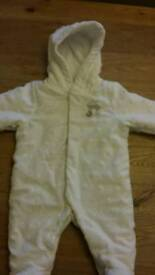 Mothercare New Baby Pramsuit/ Snowsuit