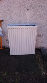 Used double radiator 20 inches with brackets