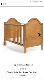 O'Baby B is for Bear cot bed