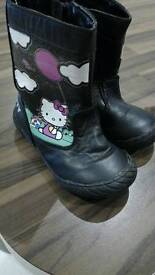 Black hello kitty boots size 7