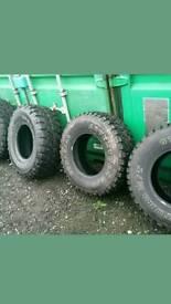4 x mud terrain tyres. 1 month old