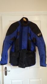 Mens Frank Thomas Aqua Motorbike Jacket Size L