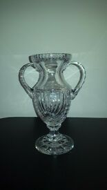 "For Sale Rare Galway Crystal Trophy Vase 8""Tall 34%Lead Perfect Condition"
