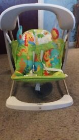 Baby swing with vibration and sound