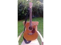 Hudson HF-1DX Superfolk Electro-Acoustic Guitar