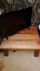 Beautiful Reclaimed Solid pine Coffee Table. 3ft by 3ft