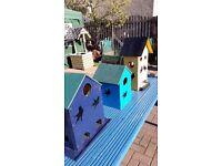 bird house and bird feeders