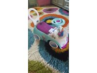 Ride on Frozen baby car in as new condition